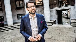 Räkna med att Jimmie Åkesson skulle vilja inskränka t ex public services frihet, om han kom till makten. Foto: Tomas Oneborg