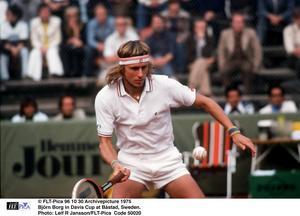 Björn Borg var en stor bidragande orsak till att Sverige vann Davis Cup 1975. Foto: FLT-Pica