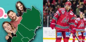 Ö-viksborna får välja mellan standup och hockey 5 februari. Bild: Ninni Westin, Ulla Campbell och Erik Mårtensson/Bildbyrån
