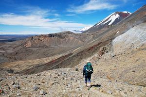 Vandring vid Mount Tongariro, Nya Zeeland.