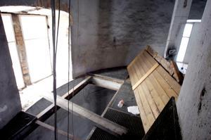 Från insidan i vattentornet. Arkivfoto: Göran Kempe.
