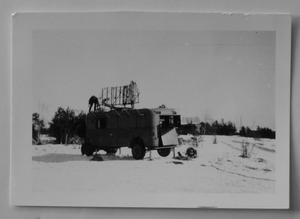 Radarstation uppställd på Lv 3:s övningsområde.  Foto: Privat