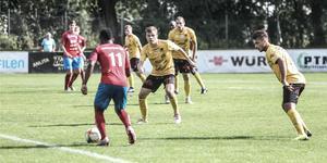Axel Wettéus BK Forward spelar i division 2 2020. Arkivfoto