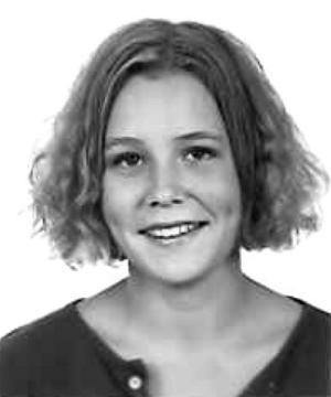 Maria Sveland, journalist och författare, klass S2C, Karolinska skolan, 91/92.