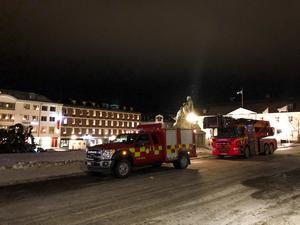 Räddningstjänsten kunde konstatera att ingen skadats vid händelsen.