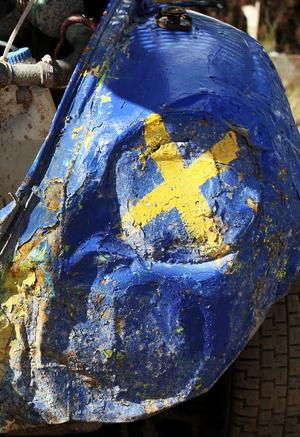 Folkracebilarnas utseende är ofta lika originellt som iögonfallande. Här en Volkswagen Typ 1, mer känd som Bubbla, vars strålkastarhål har prytts med svenska flaggan.