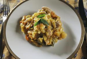 Vlaamse hutsepot är mer av en hösträtt berättar Martine. Men med allt regn den senaste tiden passar den utmärkt.