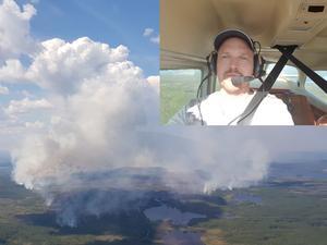 Foto: Privat Piloten Emil Jonasson är engagerad i Frivilliga flygkåren.