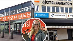 På handels- och serviceplatsen Sjötelegrafen i Nynäshamn trivs Yvonne Björnén på Friskis & Svettis som fisken i vattnet.