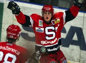 Joakim Eriksson under sin tid i SSK. Bilden är tagen från säsongen 05/06. Foto: Bildbyrån.