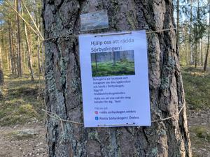 Planerna på bostadsbyggande i Sörbyskogen i Örebro har väckt motstånd. En räddningskampanj har dragit igång.