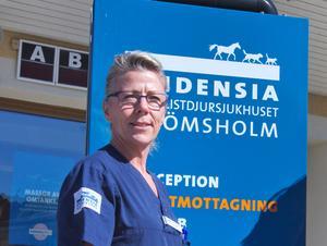 Mia Runnérus, djursjukhuschef i Hallstahammar, finns på Surahammarslistan. Foto: Tove Gontran