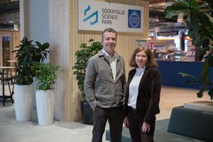 """Robert Kingfors och Eva Helén har stora visioner och ett ännu större driv. """"Vi bygger stolthet i Södertälje"""" säger Kingfors."""