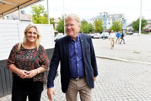 Lars Adaktusson (KD) besökte under tisdagen Vetlanda.