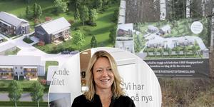 Byggherren Katarina Hultqvist känner sig trygg med projektet Brf Skogsparken i Djurås.