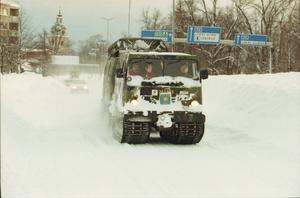 Bandvagnar från Dalaregementet i Falun skickades till Gävle, Sandviken och Österfärnebo. Som mest hjälpte 40 soldater i 20 bandvagnar till med transporter.