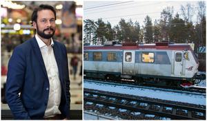 Flera lärare som pendlar med tåg till Fagersta har tröttnat på tågstrulet. Martin Drakenberg, affärschef på SJ, menar dock att förändring är på väg.  Foto: Henry Lundholm/Magnus Östin