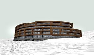Byggnaden beräknas kosta 350 miljoner kronor att uppföra, med planerad byggstart i april. Illustration ur bygglovsansökan.