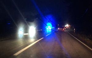 Olyckan drog på sig  en del köer i fredagstrafiken.