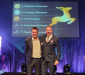 I tisdags kväll mottog HB Bygg pris som gasellföretag på en gala i Falun.