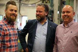 Vd Torbjörn Borgert, Mora Tool, Pierre Bengtsson, vd Mafi och Jan Larsson, vd MCM.