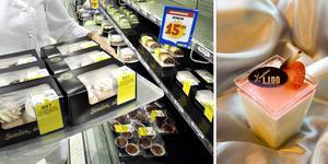 Både City Gross och Konditori Lido har slarvat med märkningen av bakverk, smörgåsar och sallader. Foto: Catharina Hugosson/Håkan Selén