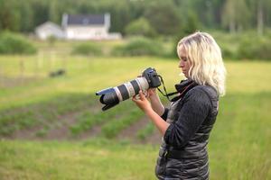 """Någon förebild har inte Jenny Johansson inom hästfotograferingen. """"Jag vill utvecklas på mitt eget sätt i min egen takt"""".Foto: Annika Persson"""