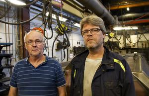 Jan Tagg och Kenth Hansson har båda jobbat i 25 år på Sörling-Ilsbo i Enånger. Men nu ska verkstaden stänga för gott.