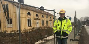 Bo Wallenius, platschef, utanför Hallsta förskola i februari.