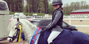 Nicole Valberg Lilja vann tillsammans med Princess Gloria. Foto: Sabine Lilja