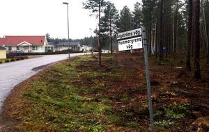 Området vid Ångströms väg i Kovland ska byggas ut med 19 villatomter.