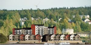 Bryggaren Strand, ett av Westerlinds bostadsprojekt i Härnösand. Foto: Westerlinds.