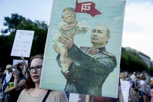 Putin och Trump – hot mot den västerländska demokratin. Bild: TT