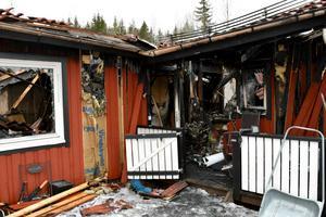 I princip allt som Petra och hennes familj ägde gick förlorat vid branden.