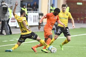 Chidi Omeje i en match mot Elfsborg. Bild: Claudio Bresciani/TT.