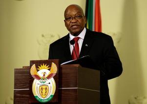 Jacob Zuma, avgående president i Sydafrika. Foto: Themba Hadebe/AP/TT