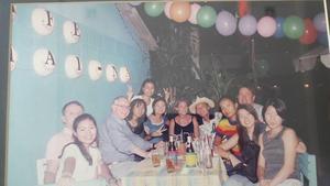 Party party för Lojsa och Sep i Phuket.Foto: Privat