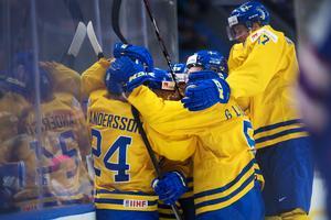 Juniorkronorna får spela VM på hemmaplan 2022. Foto: Joel Marklund (Bildbyrån).