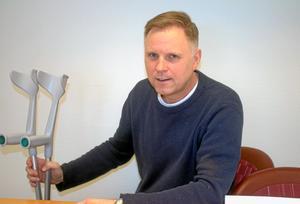 Magnus Moberg, Ica-handlare på Maxi i Falköping, kan stoltsera med att kunna erbjuda sina kunder Skaraborgs billigaste matkasse. Det visar PRO:s senaste undersökning. Bilden är från ett tidigare tillfälle.