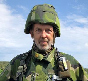 Peter Lasén, major och chef för 17:e hemvärnsbataljonen.