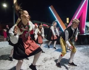 Dansgruppen Kurbits crew vid invigningen av Melodifestivalen. Foto: Arkivbild