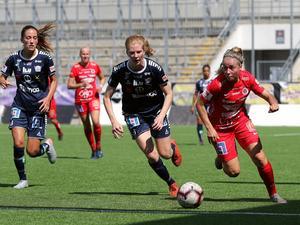 Heidi Kollanen imponerade på tränaren Stefan Ärnsved i sin debut i Örebro-tröjan. Foto: Rasmus Ohlsson.