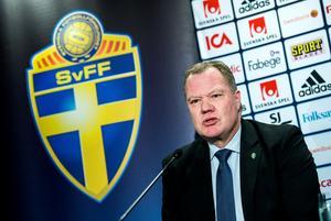 Fotbollförbundets ordförande Karl-Erik Nilsson. Bild: Marcus Ericsson/TT Nyhetsbyrån.