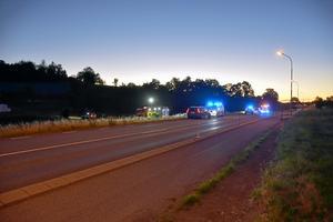 Flera polispatruller var inblandade i biljakten som inleddes i Jönköping vid 02-tiden på natten.