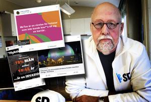Benny Rosengren, länsordförande för Sverigedemokraterna i Dalarna, berättar att fullmäktigeledamöterna i Hedemoras delningar, texter och bilder nu har skickats till Stockholm för att utredas internt av partiet.