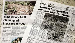 Artiklar i Dagbladet från juni 2002 och november 2008.