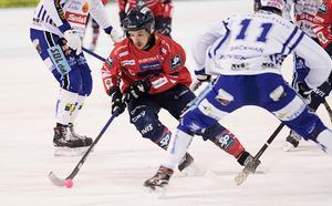 Hans Andersson och Edsbyn hittade inte många luckor i ett stabilt hemmaförsvar.