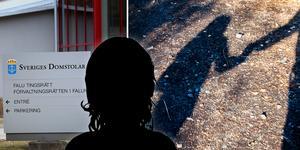 En kvinna vid Falu tingsrätt för barnmisshandel. Foto: Tomas Nyberg, Gorm Kallestad/TT