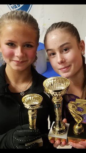 Wilma Olsson och Emma Ring på DM i Västerås.