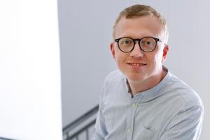 Jacob Hilding tar över som tf chefredaktör och ansvarig utgivare på Arbetarbladet. Pressbild.